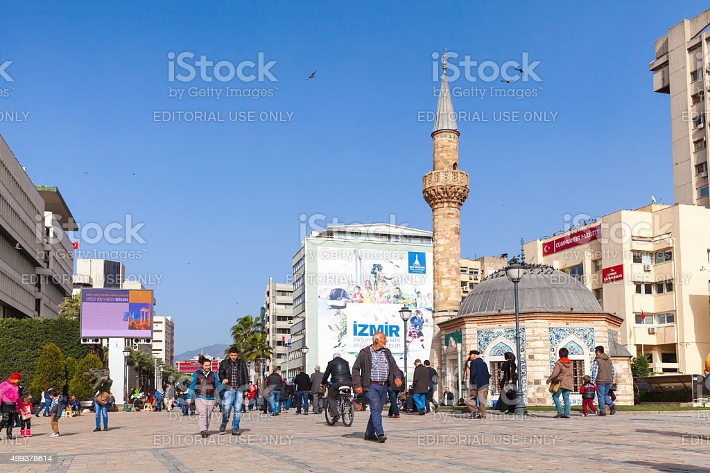 Old Camii mosque in Izmir, Turkey stock photo