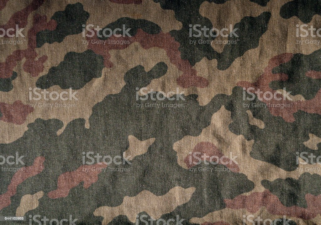 Old camouflage uniform cloth pattern stock photo