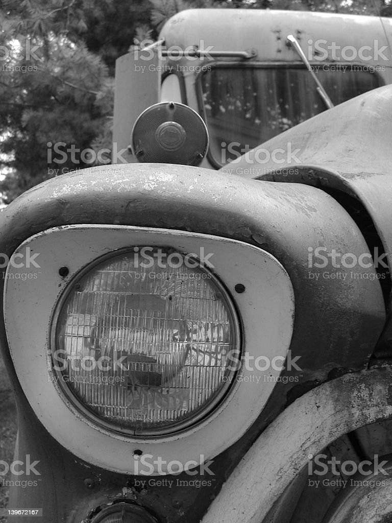 Old Camper Headlight royalty-free stock photo