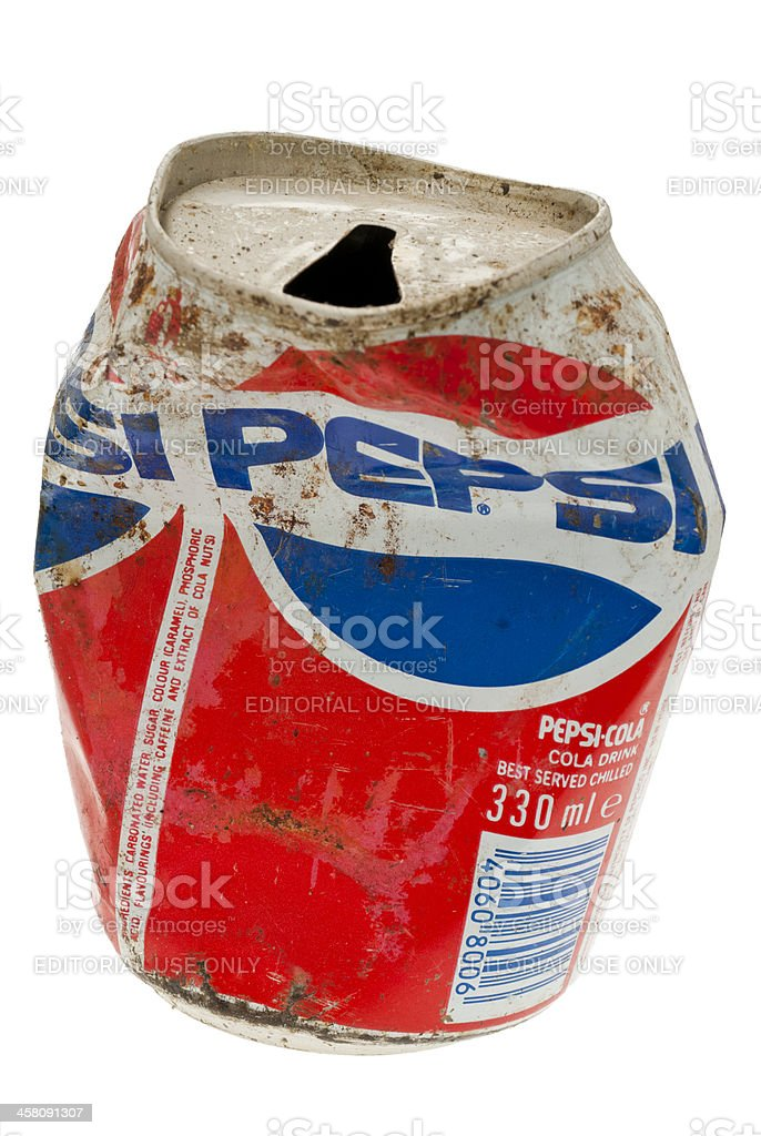 Old Can of Pepsi - 2010 royalty-free stock photo