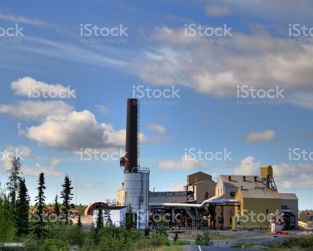 Old Canadian Mine stock photo