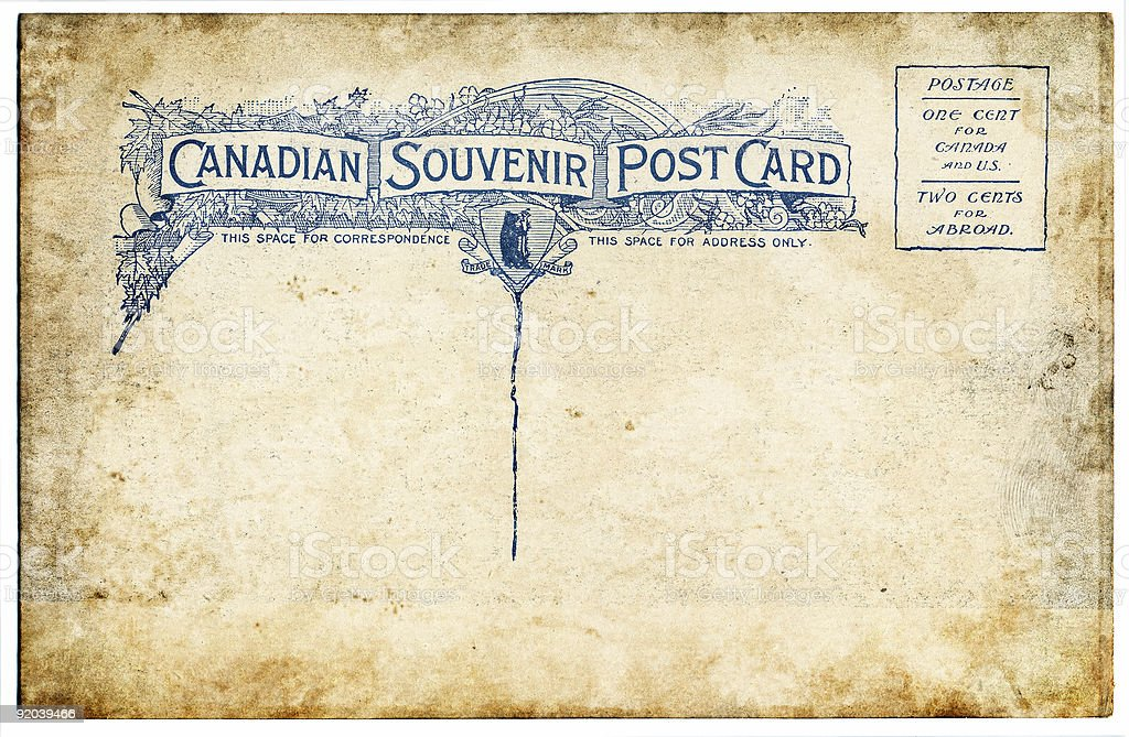 Old Canadian Postcard royalty-free stock photo