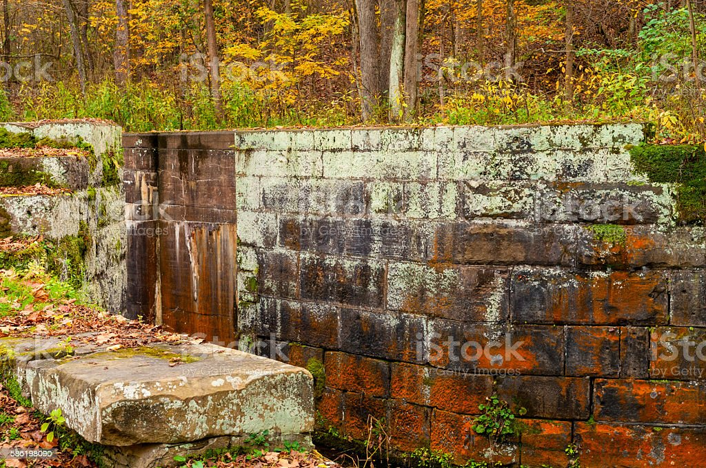 Old canal lock stock photo