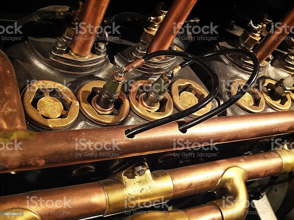 Old candles engine royalty-free stock photo