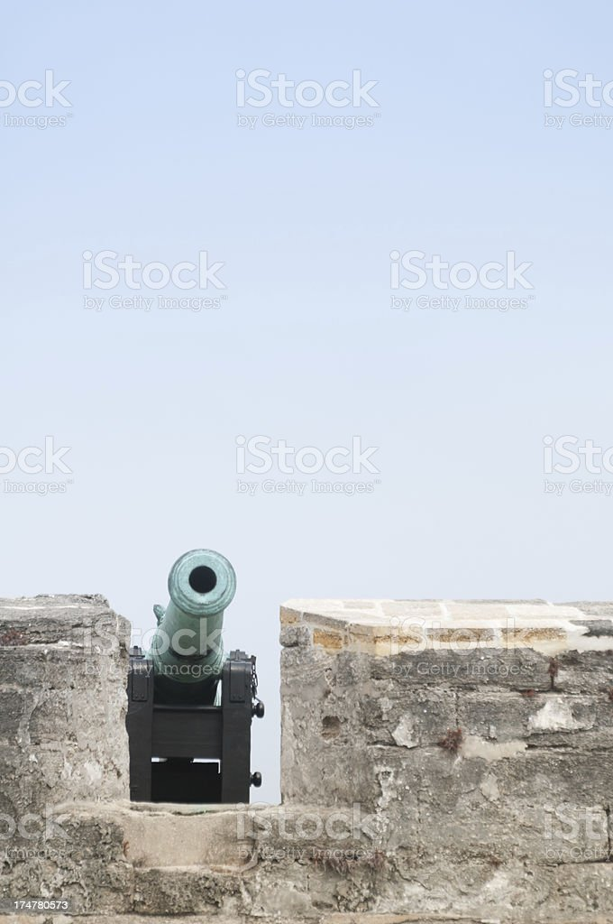 Old cannon at the Castillo San Marcos, St. Augustine, Florida royalty-free stock photo