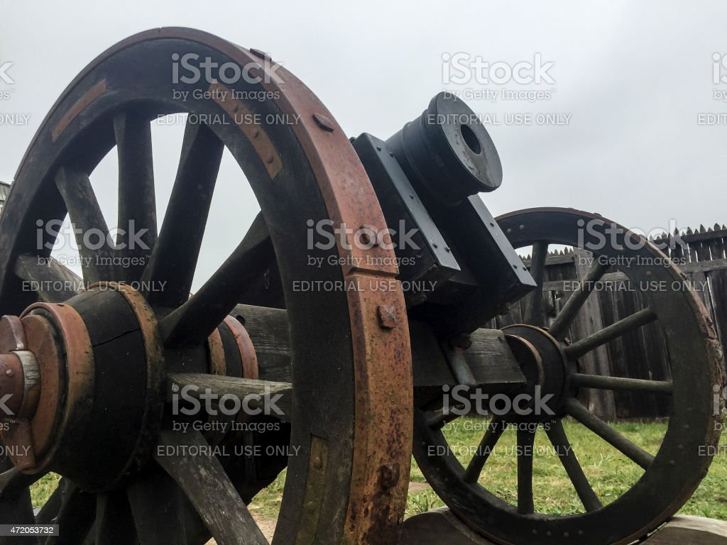 Old Cannon -- Fort Ross stock photo