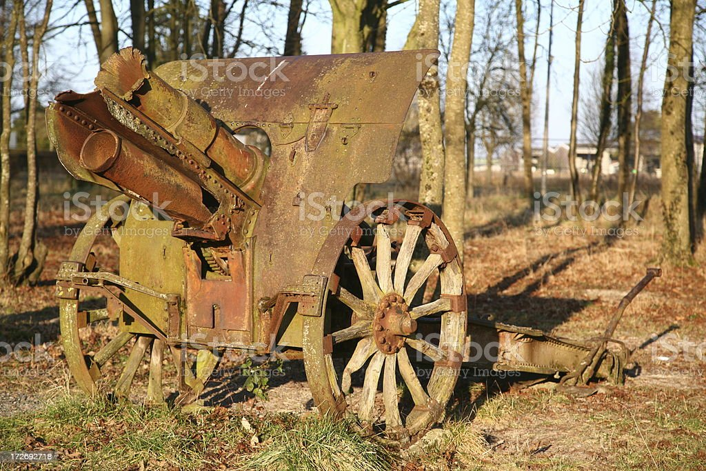 Old cannon from World War I royalty-free stock photo