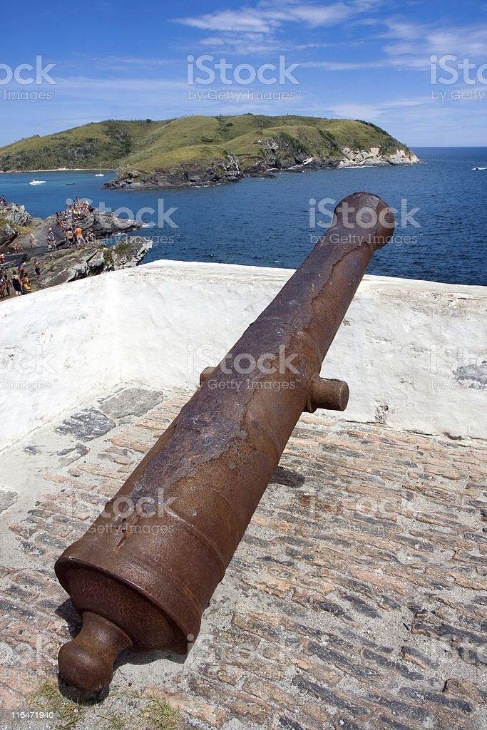 Old Cannon. Rio de Janeiro. stock photo