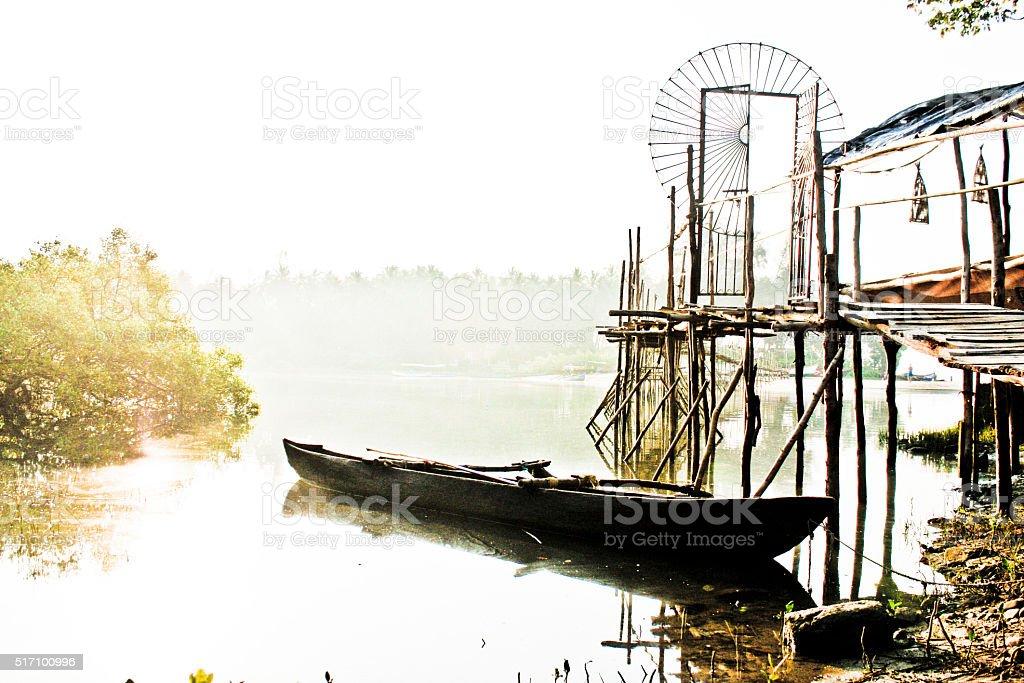 old canoe stock photo