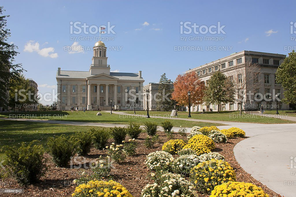 Old Capitol at the University of Iowa stock photo