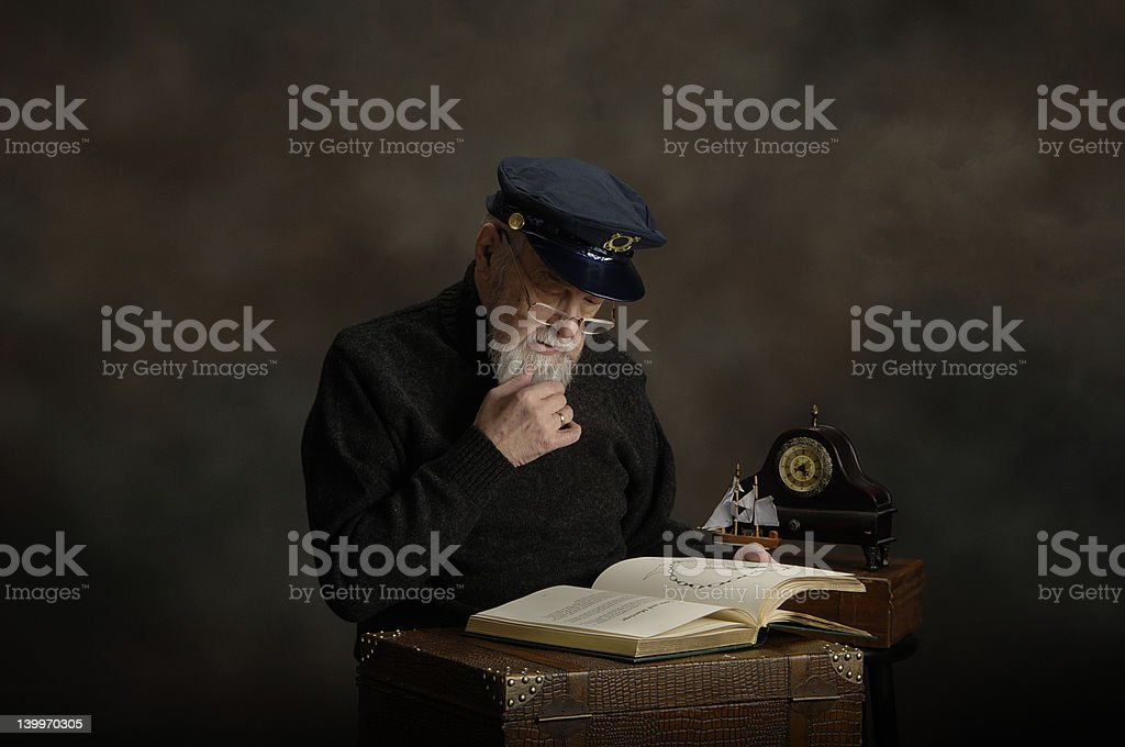 Old Captain royalty-free stock photo