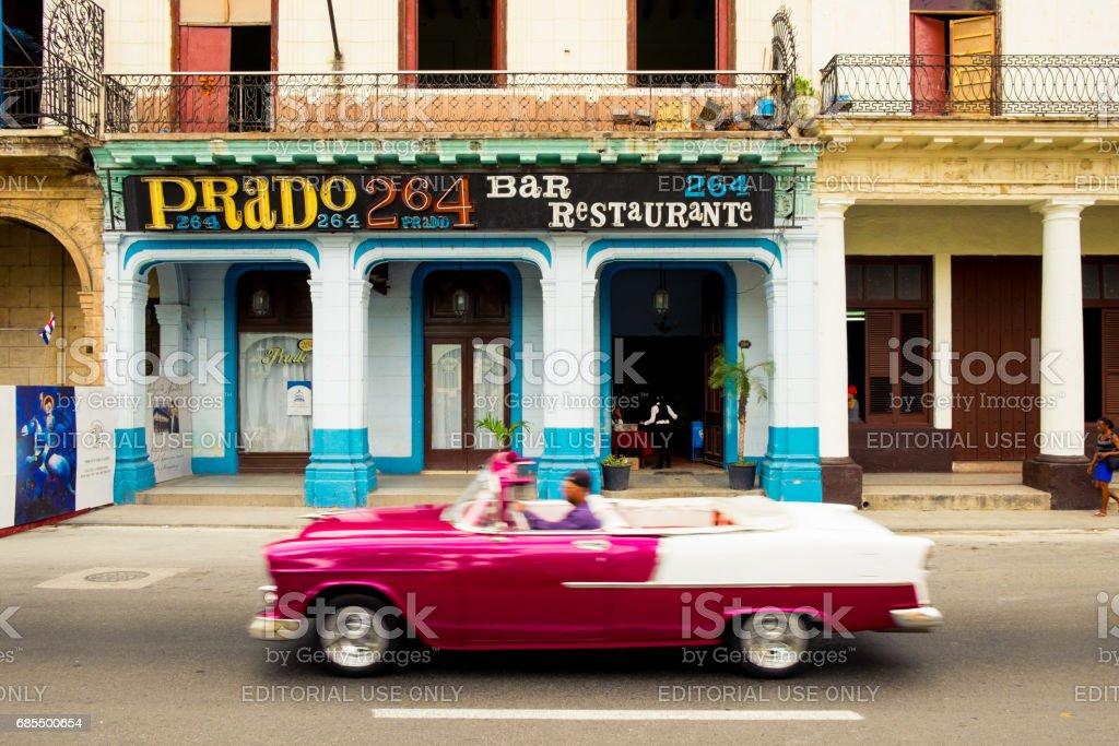 Old Car along the streest of Havana, Cuba stock photo