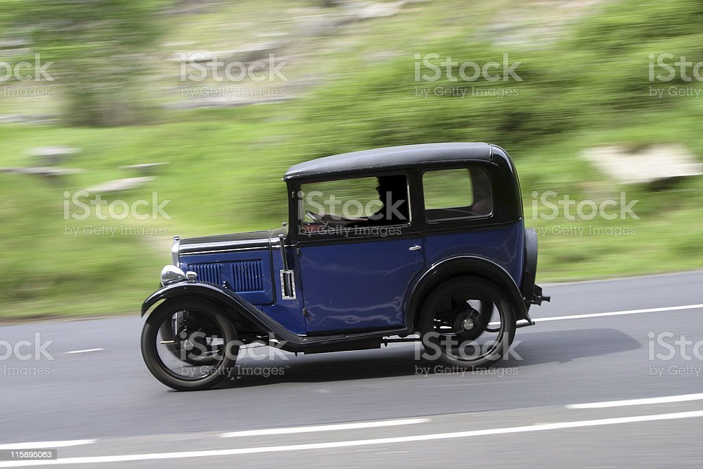 Old Car at speed stock photo