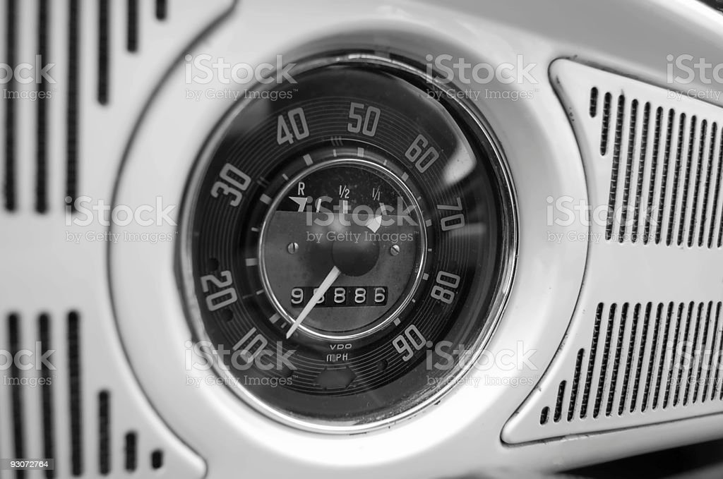 Old Car Dashboard stock photo