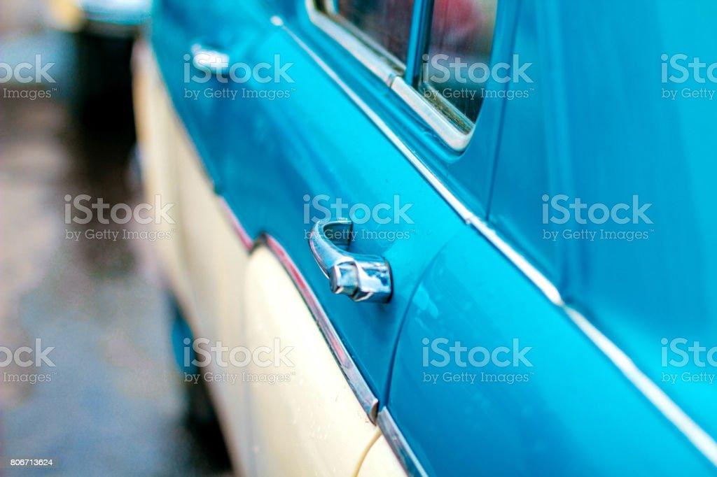 Old car doors stock photo