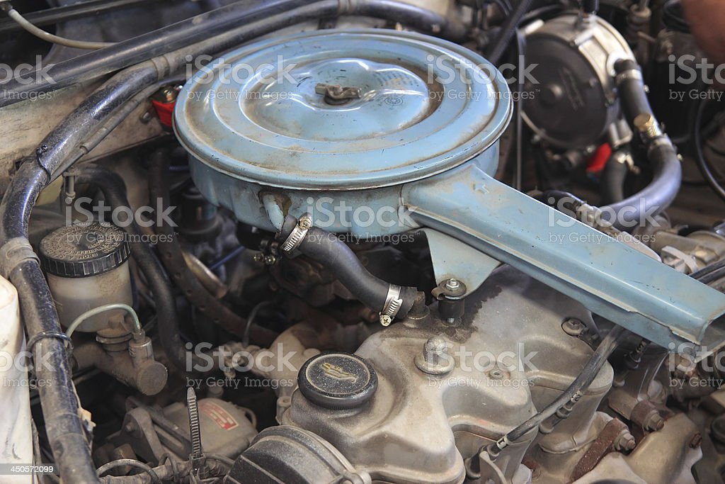 Old Car Engine royalty-free stock photo