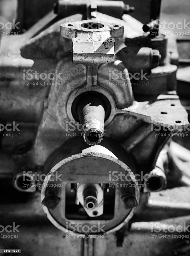 Old Car Engine stock photo