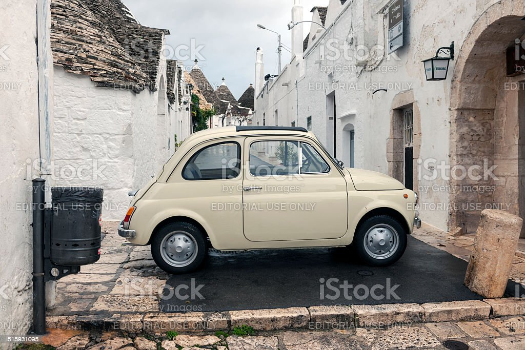Old Car Fiat 600 in Alberobello, Puglia, Italy, Europe stock photo