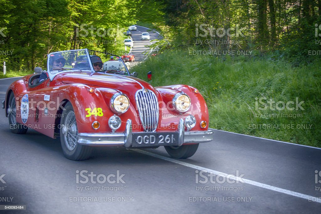 Old Car for Mille Miglia 2016 stock photo