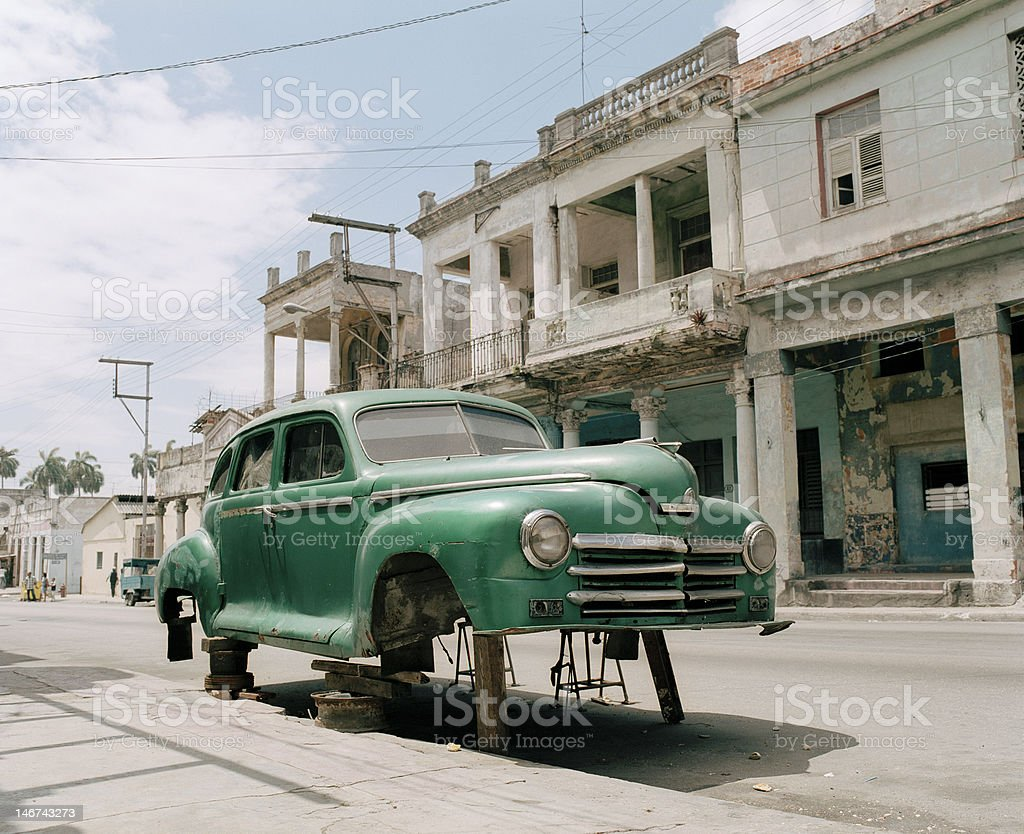 Old car in Havana royalty-free stock photo