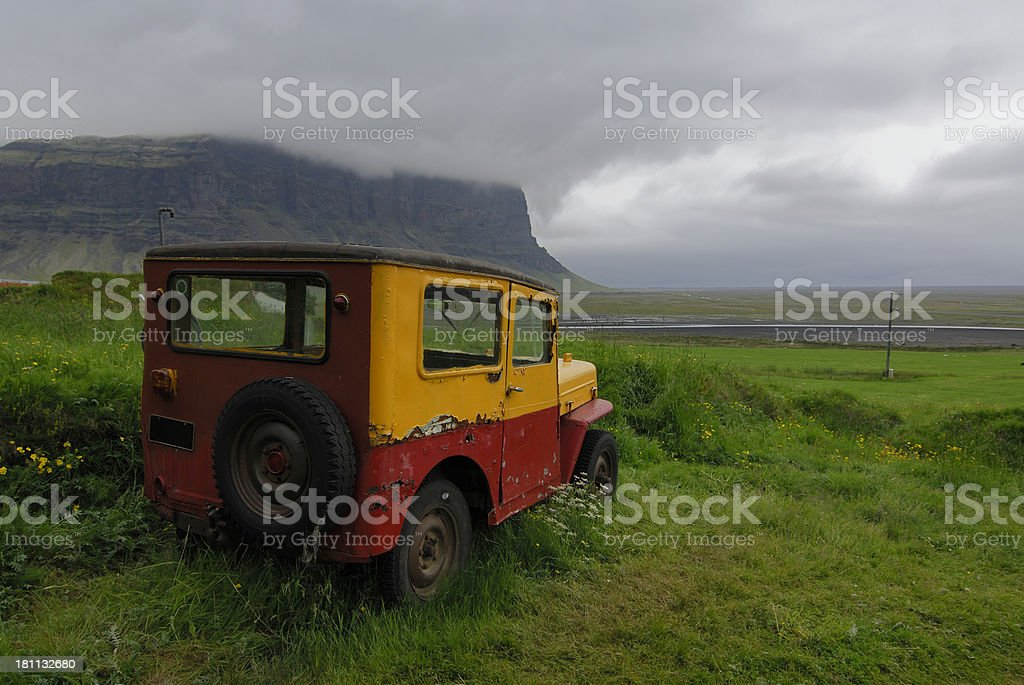 old car in Iceland royalty-free stock photo