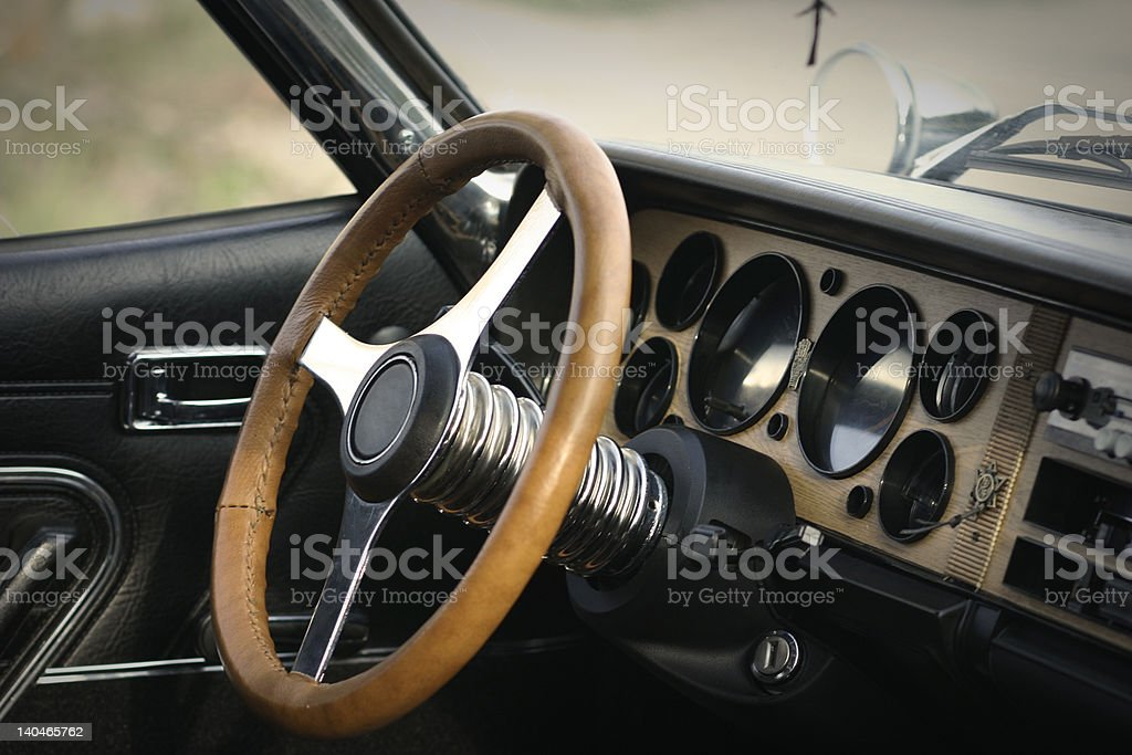 old car interior royalty-free stock photo