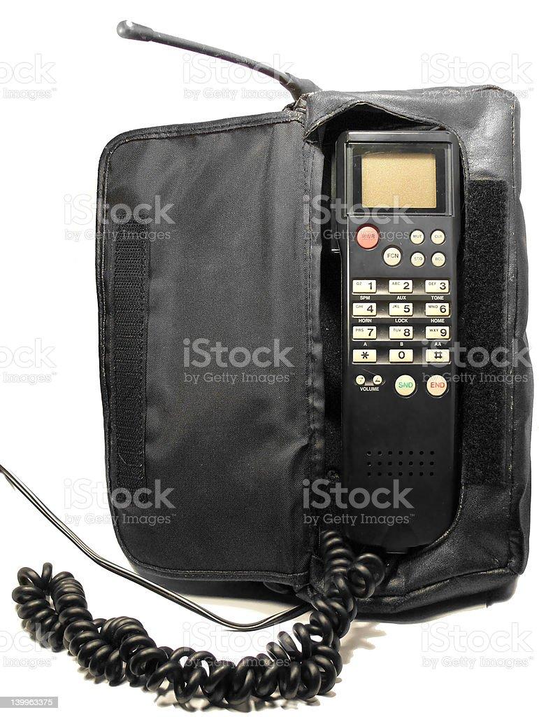 Antigo Telefone de Carro foto royalty-free