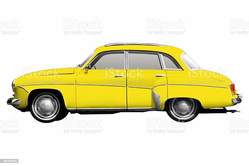 Old car (isolated) stock photo