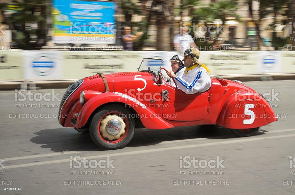 Old car racing stock photo