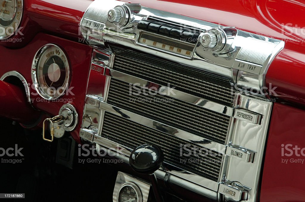 old car radio stock photo