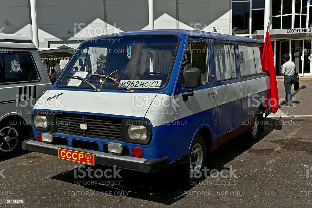Old car show on Retrofest. Minibus RAF royalty-free stock photo