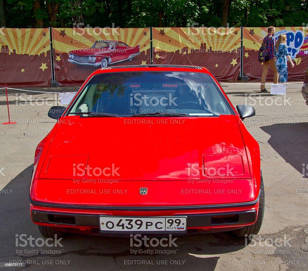 Old car show on Retrofest. Pontiac Fiero royalty-free stock photo