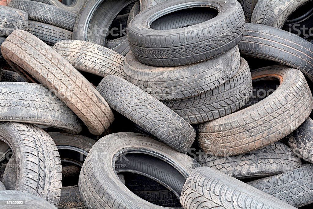 old car tires stock photo