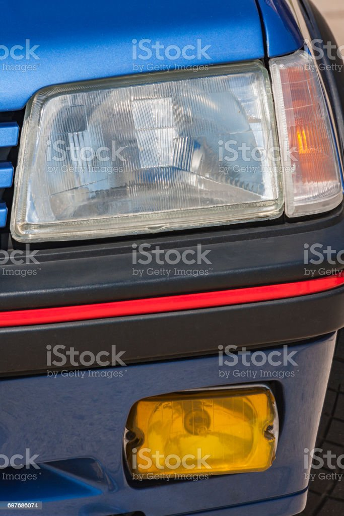 Old car: traditional reflector stock photo