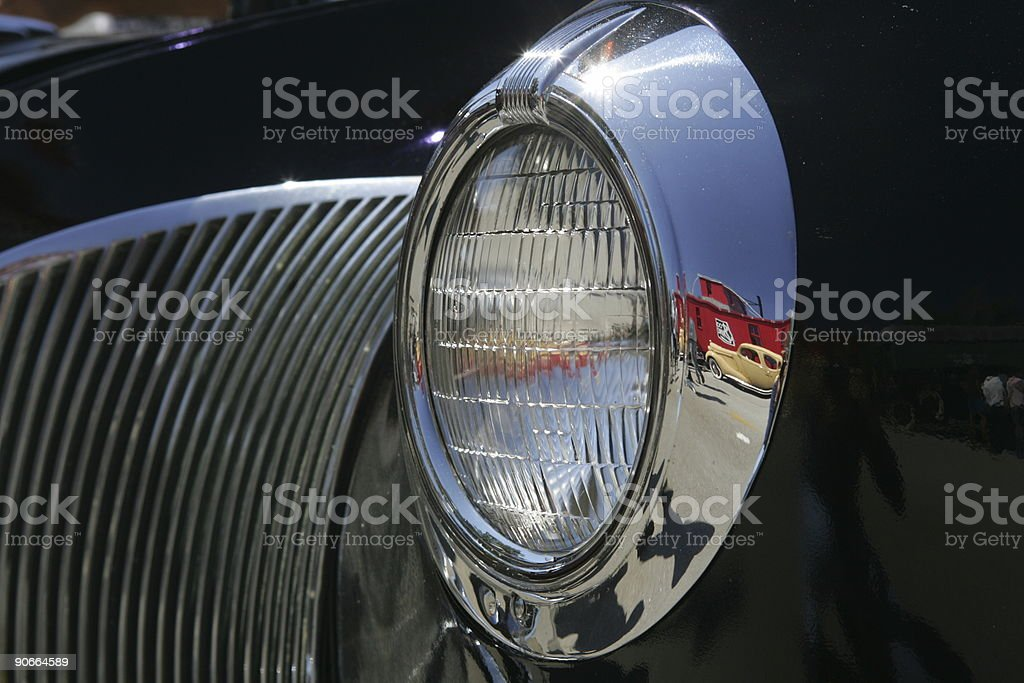 Old Car with Reflection stock photo