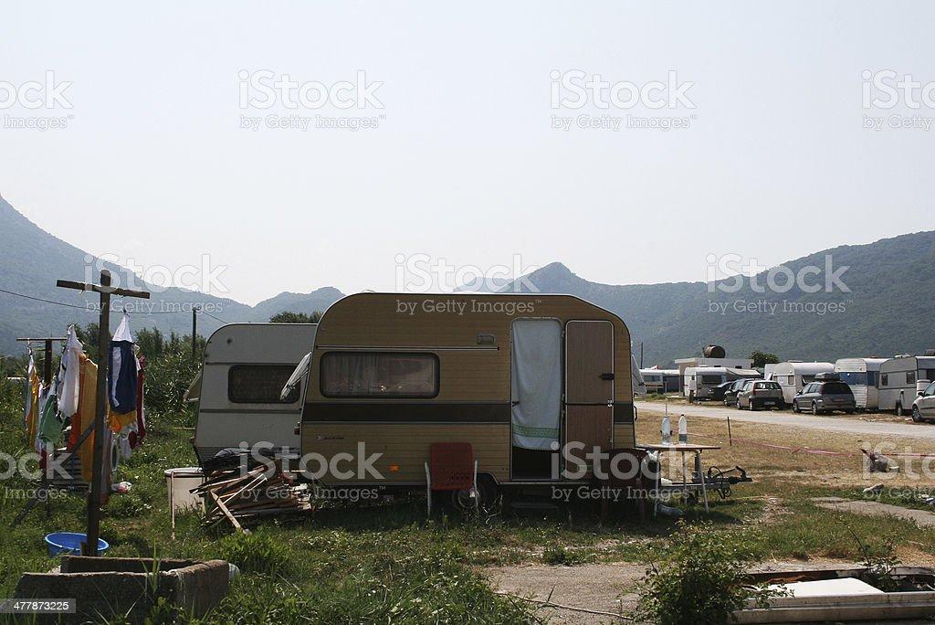 Old caravan royalty-free stock photo