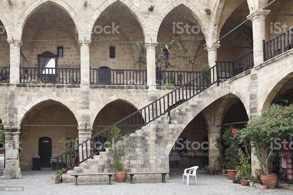 old caravan rest  arches Bueyuek Han Lefkosa Nicosia North stock photo