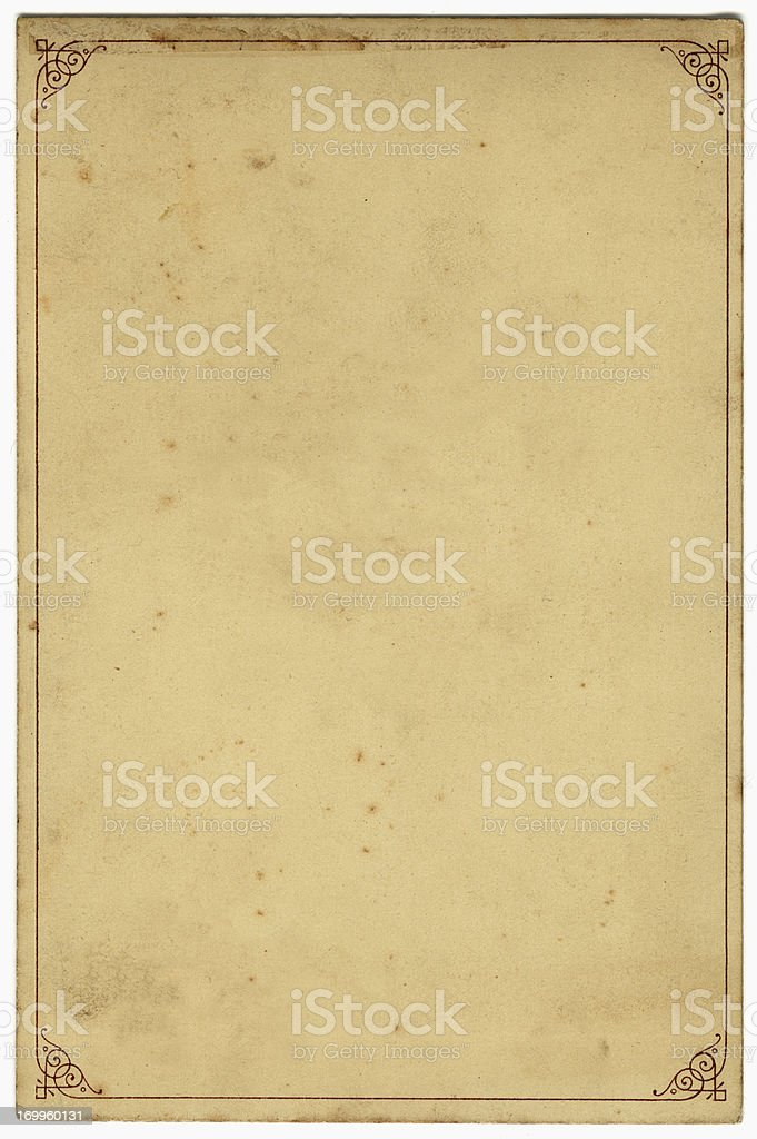 Old card with border stock photo