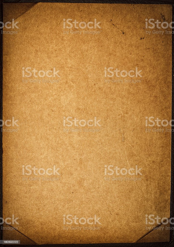old cardboard piece with papper corners royalty-free stock photo