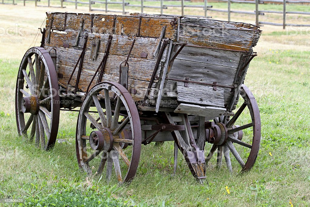 Old Cargo Wagon royalty-free stock photo