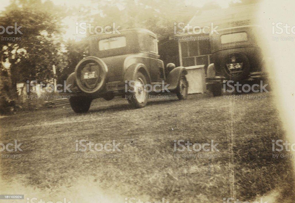 Old car-grunge royalty-free stock photo