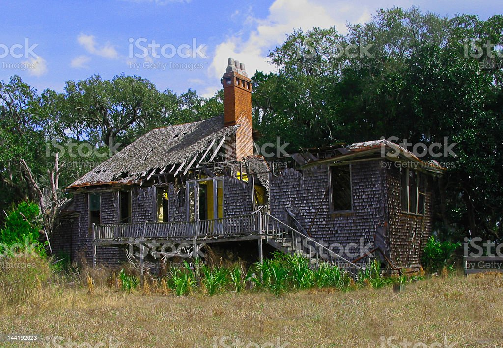 Old Carnegie Family Estate Cumberland Island stock photo