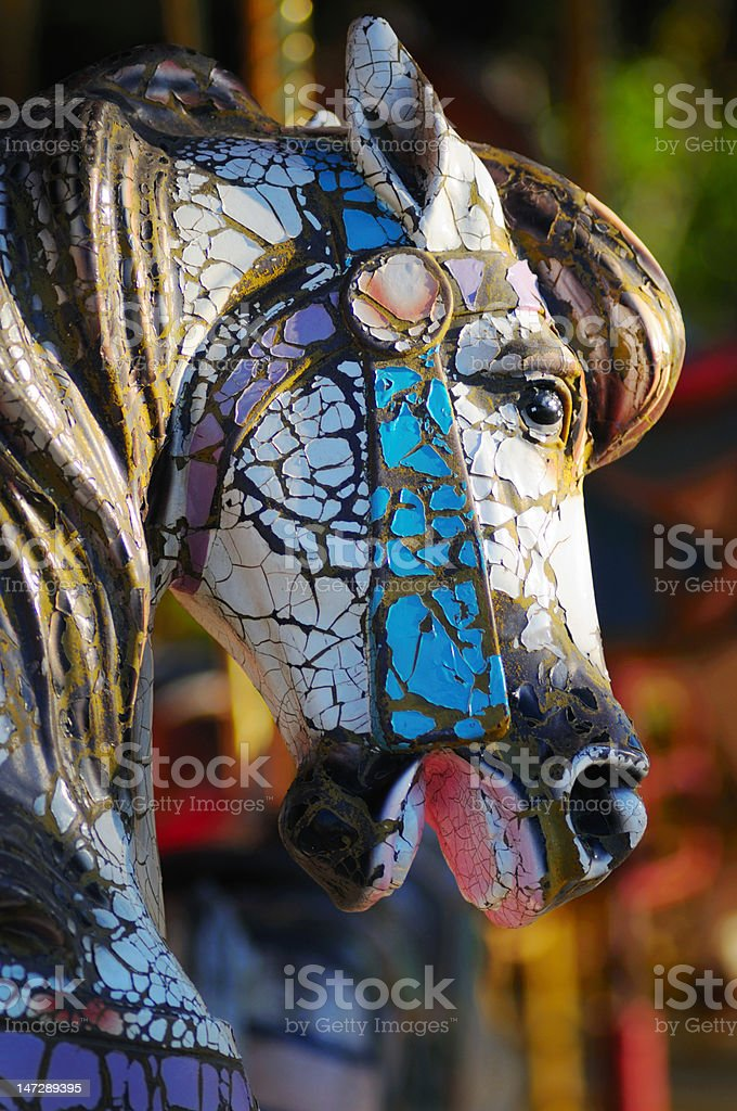 Old Carousel Horse royalty-free stock photo