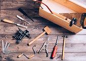 Old carpenter tools