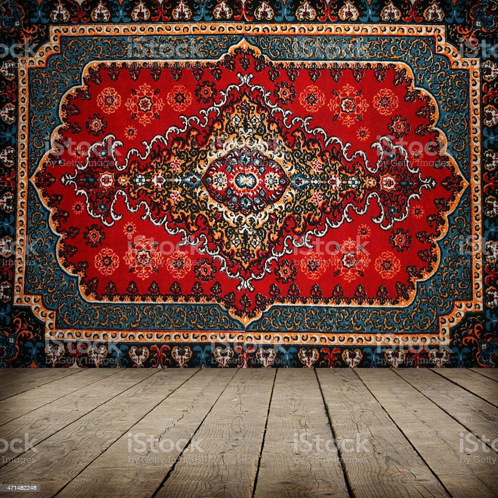 Old carpet background stock photo