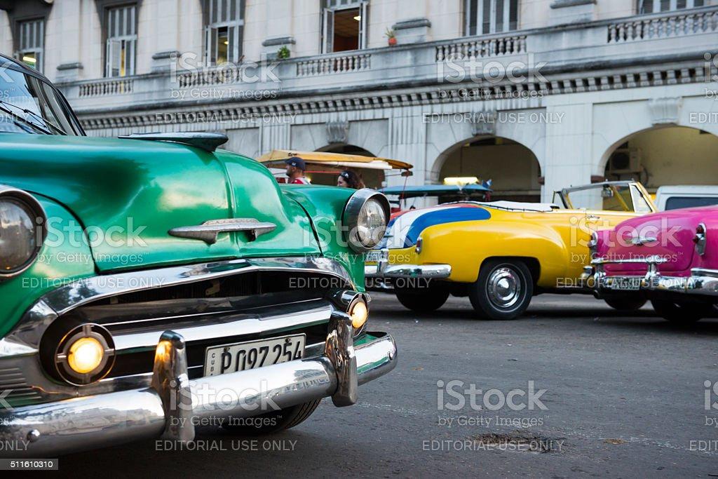 Old cars in Havana, Cuba stock photo