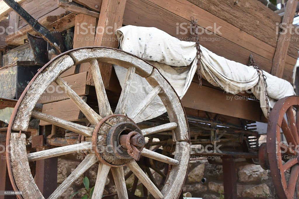 old cart stock photo