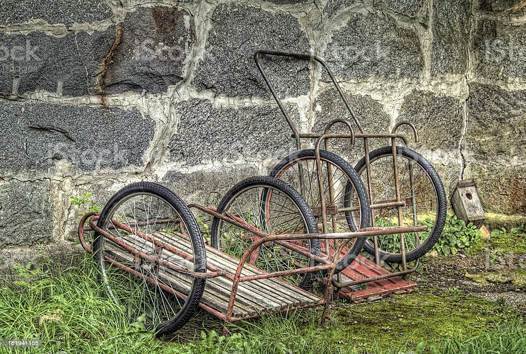 Old carts in hdr royalty-free stock photo