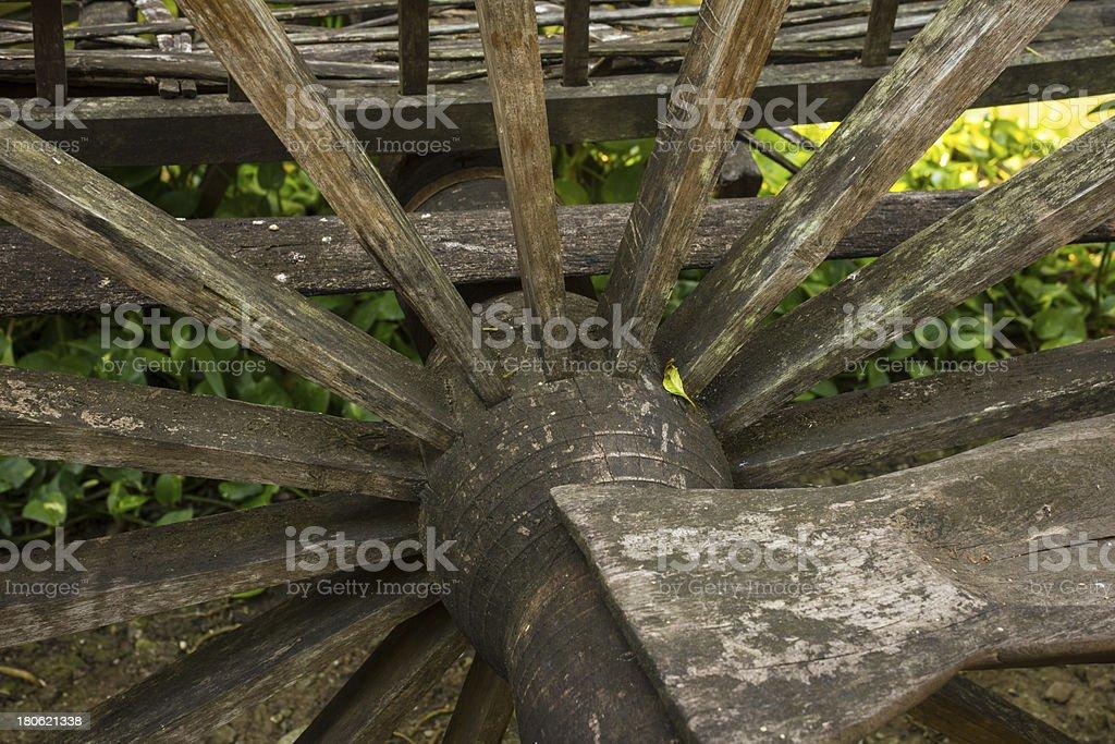 Old cartwheel royalty-free stock photo