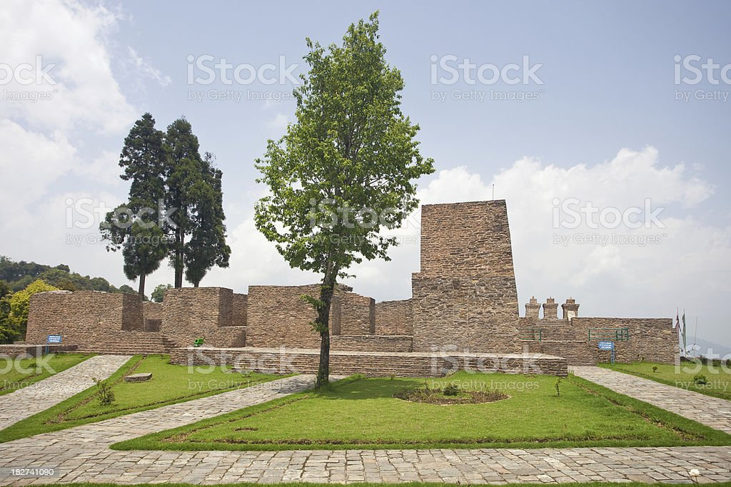 Old Carved Stone At Rabdantse Ruins In Pelling, Sikkim, India royalty-free stock photo